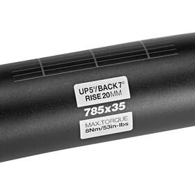 Sixpack Vertic785 Stuur Ø35mm 20mm, stealth black